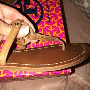Tory Burch Shoes - Mini Miller Flat Thong Royal Tan Sz 7